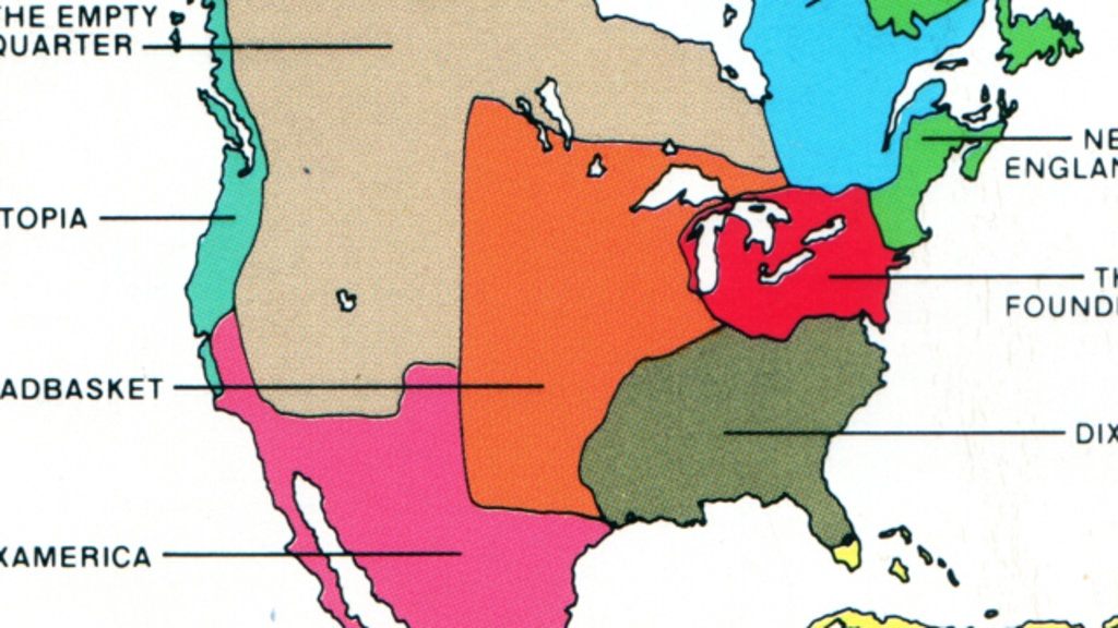 The Nine Nations Of North America Big Think - Map of canada and northern us