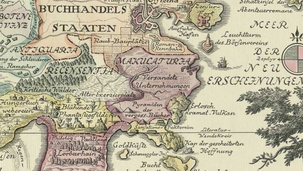 A map of theland of books big think this map by german illustrator alphons woelfle 1938 shows the extent and the divisions of bcherland the land of books the land consists of about half gumiabroncs Image collections