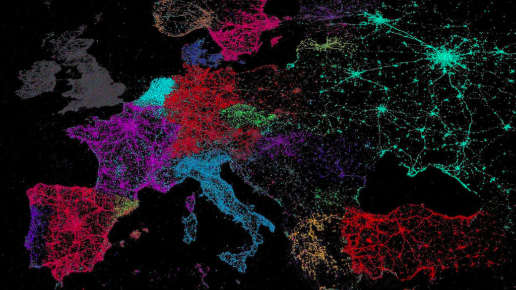Vive Le Tweet A Map Of Twitters Languages Big Think - Whole world satellite map