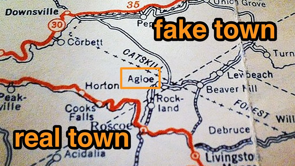 Agloe How A Completely Made Up New York Town Became Real Big Think - Map of the us weird locations