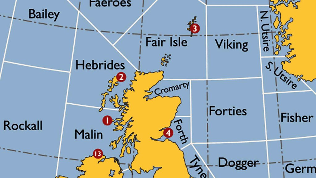 The Shipping Forecast: a Map of Britain's Splendid Isolation   Big ...