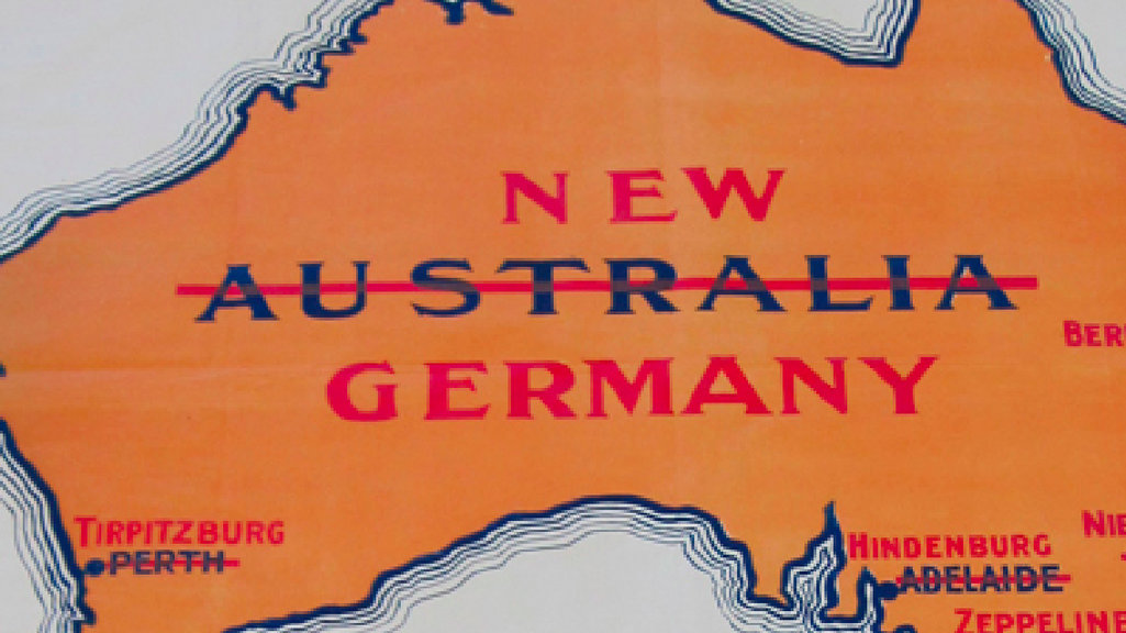 World war i scare map germany invades australia big think back when australia thought it was just another british isle accidentally misplaced in the south pacific the country regularly had nightmares of an asian gumiabroncs Choice Image