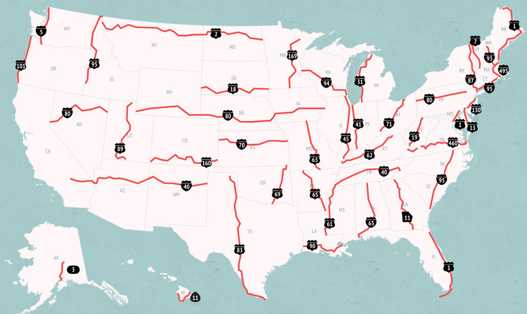 Americas Deadliest Highways Big Think - Us highway 89 mile map