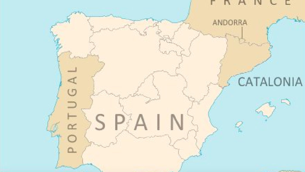 this is what the map of the iberian peninsula may look like if spains semi autonomous region of catalonia catalunya were to become independent
