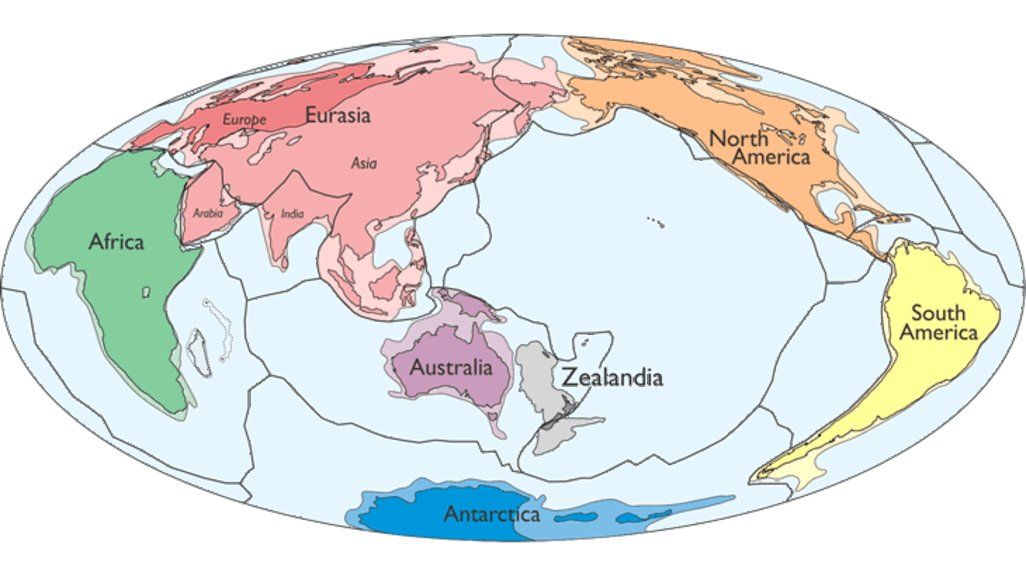 Earths hidden continent zealandia finally recognized big think simplified map of earths tectonic plates and continents including zealandia credit gsa today gumiabroncs Gallery