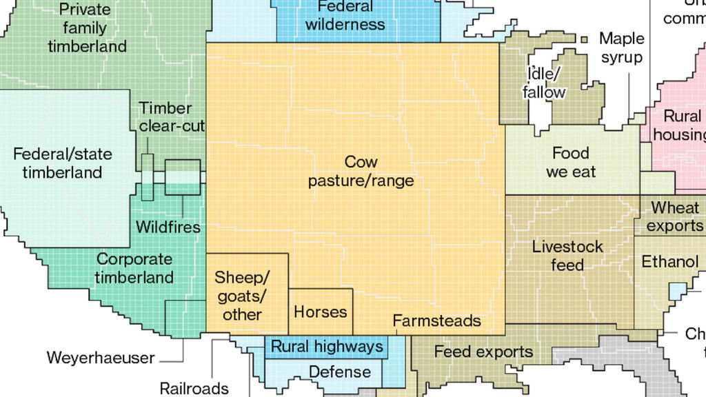 The Us Is Cow Country And Other Lessons From This Land Use Map - Us-land-use-map