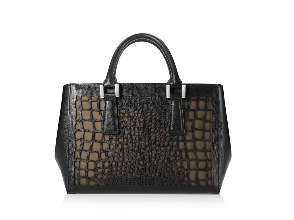 "VanDerWaals' ""Elena"" handbag retails at $499."