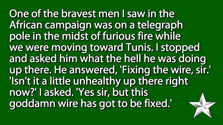 Patton on bravery.