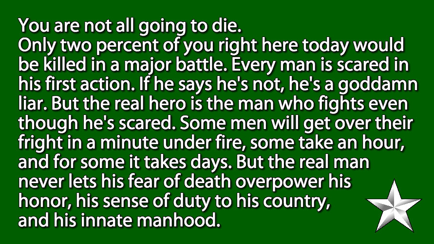 Patton on fear.