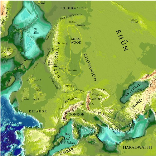 JRR Tolkiens Lord of the Rings Real Places May Have – Lord of the Rings Map Middle Earth