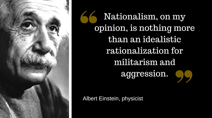Einstein quote on Nationalism