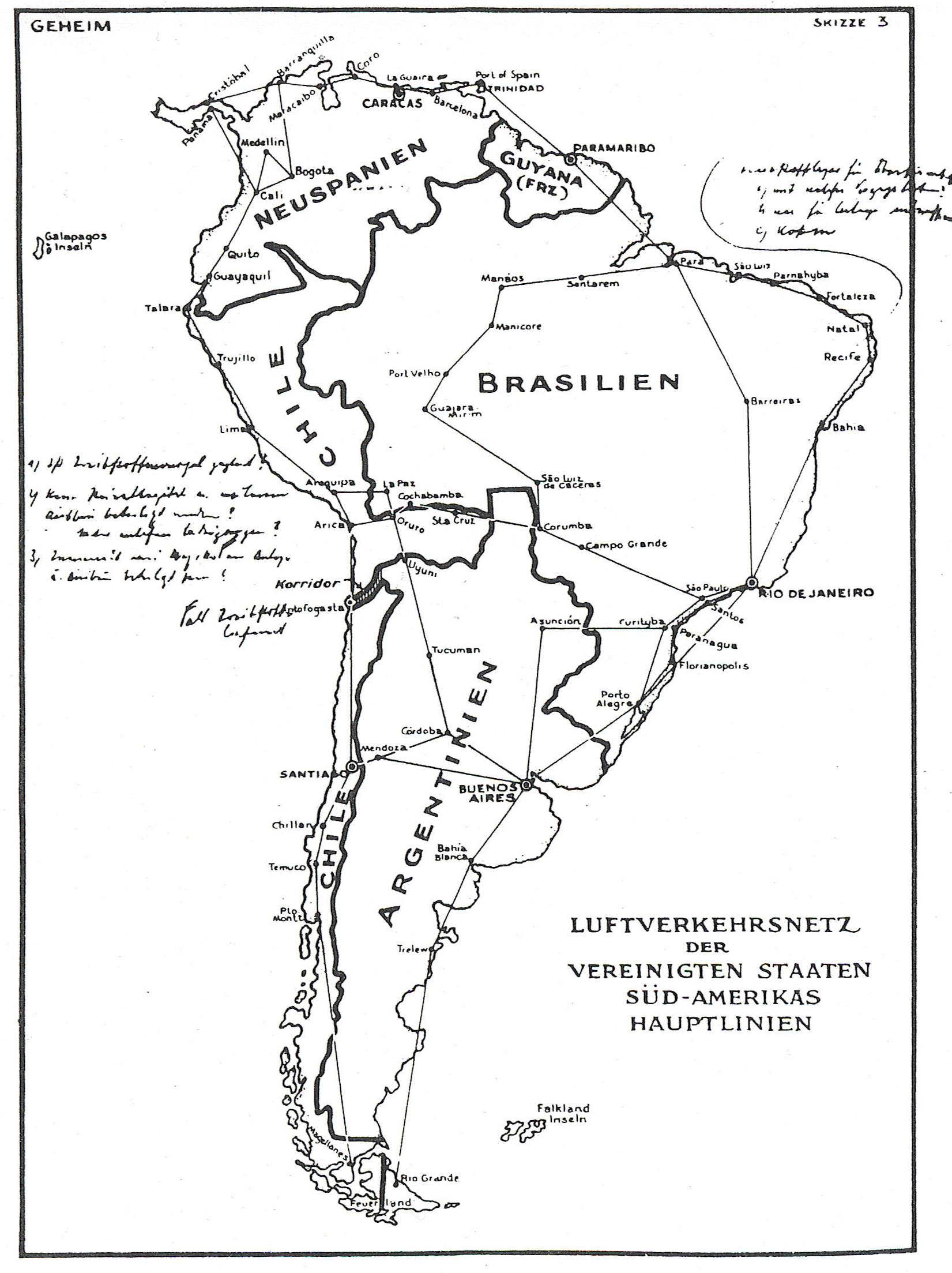 A Map Of Nazi South America Forged By The British Big Think - S america map