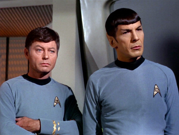 Dr Spock and Captain Kirk