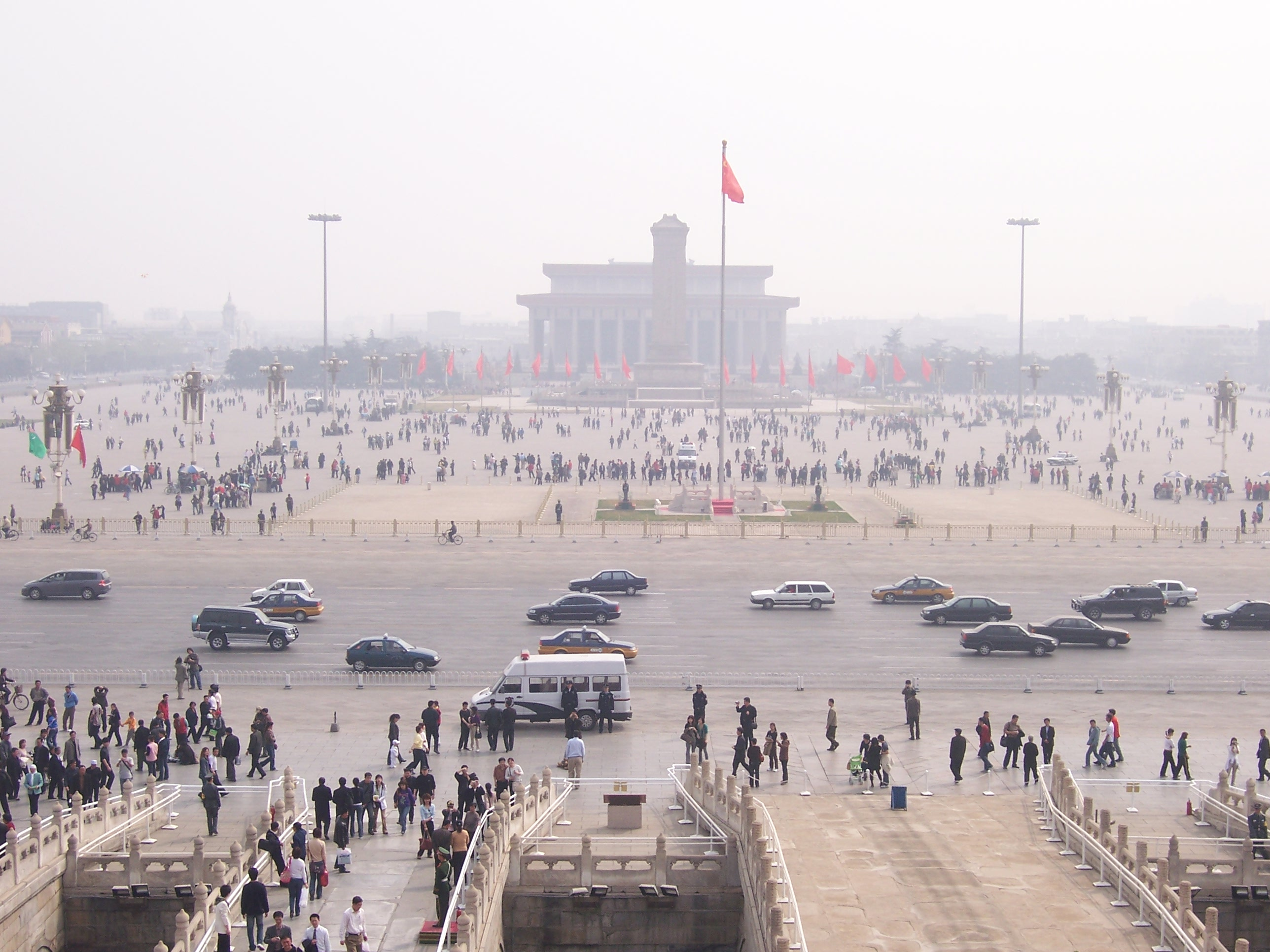 Smog over Tiananmen Square