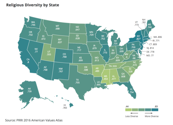 Religious Diversity by State