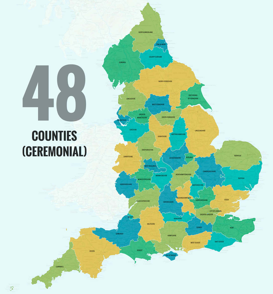40 Ways to Carve Up England  Big Think